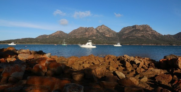 Coles Bay with the Hazards in the background