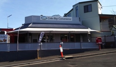 Get your groceries from Coles Bay Convenience