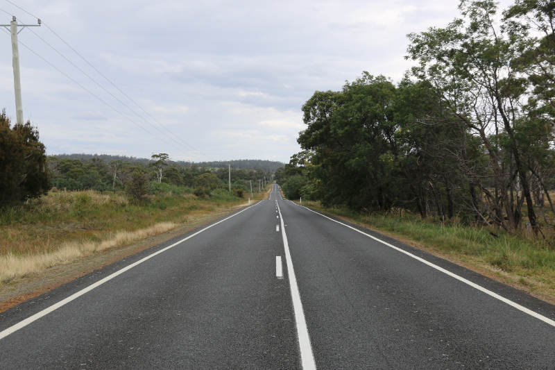 Roads in Tasmania can be rather deserted at times