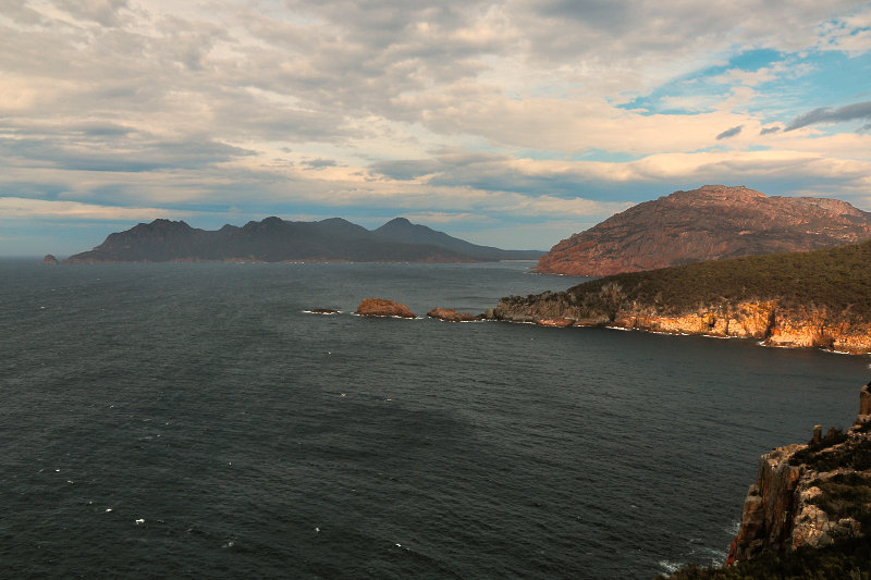 Views of coastline of Freycinet National Park from Cape Tourville