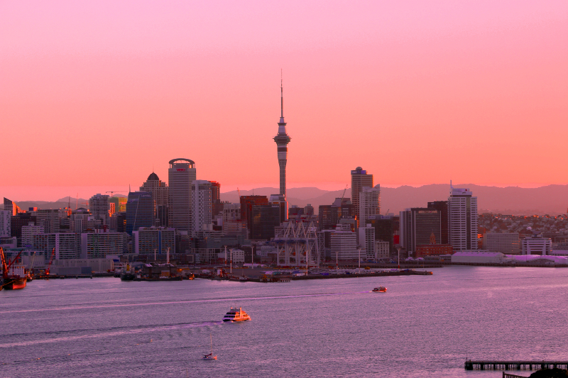 Auckland Waterfront as seen from Mt Victoria