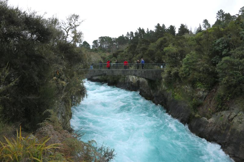 The mighty Huka Falls