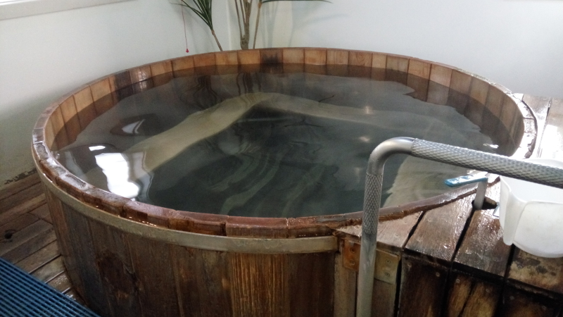 The hot tubs with the therapeutic hot spring water of Te Aroha are so inviting.