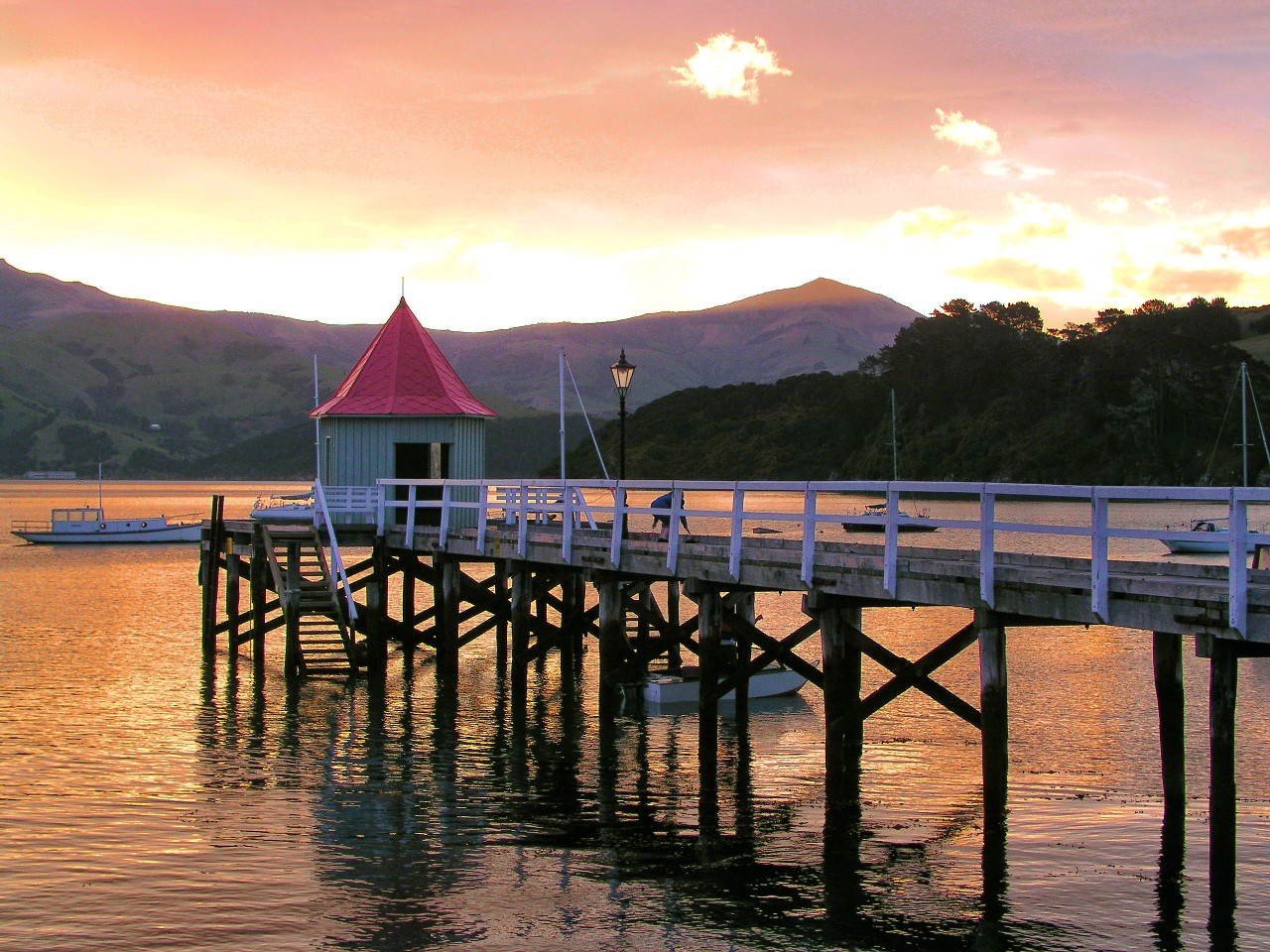 Akaroa at Sunset