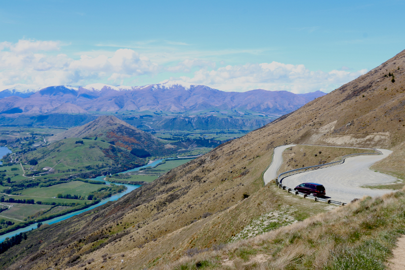 This is the 6km mark where we accessed the vantage point on the Remarkables