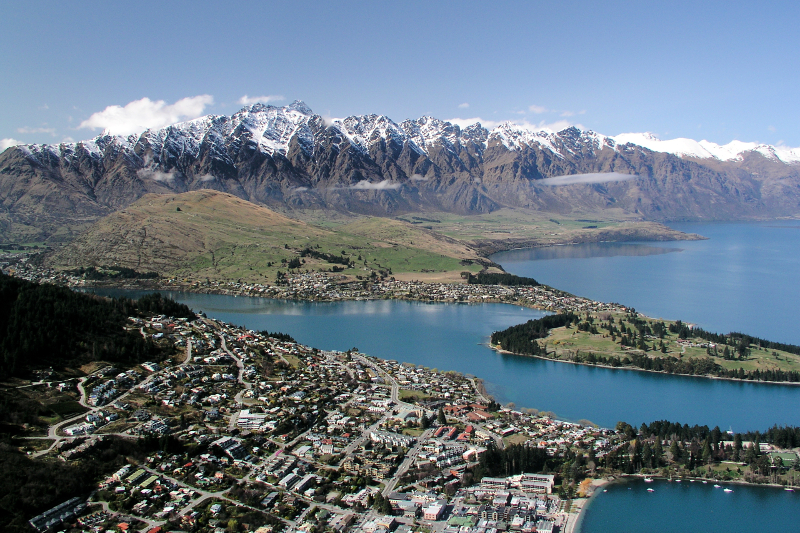 View of Queenstown and Lake Wakatipu from Bob's Peak