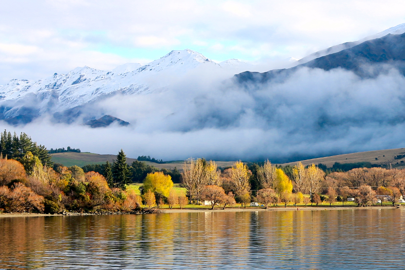 Beautiful Autumn Scenery at Lake Wanaka
